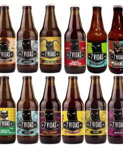 cerveza 7 vidas - 12 pack misicha - proteccion de animales - 12 pack degustación