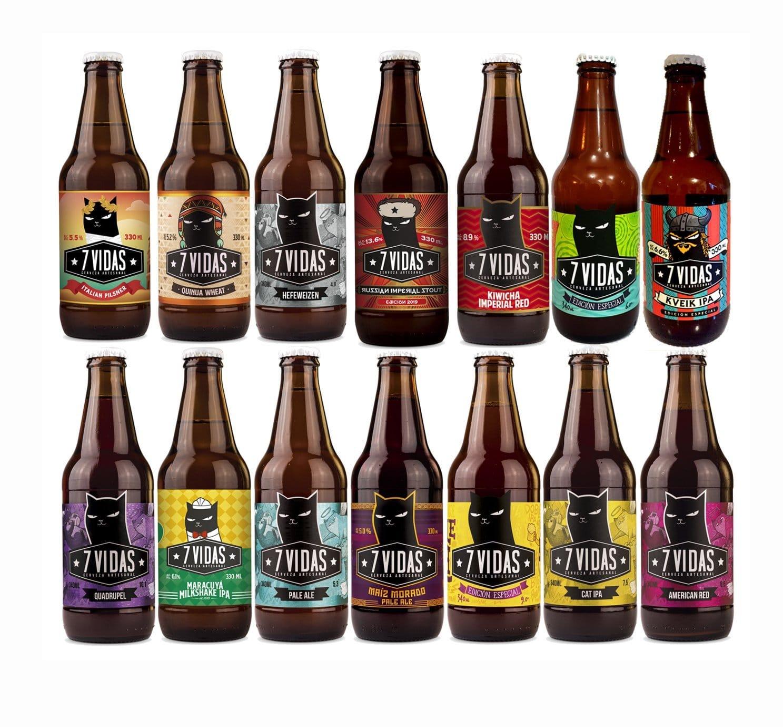 Cerveza 7 Vidas - 24 Pack Degustación
