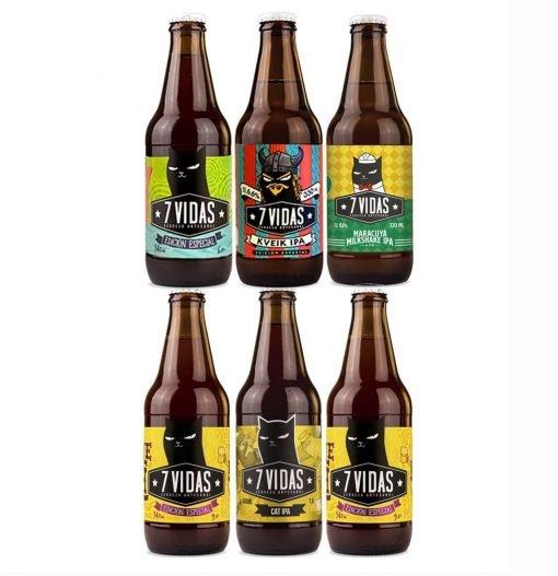 cerveza 7 vidas - 6 pack IPAS