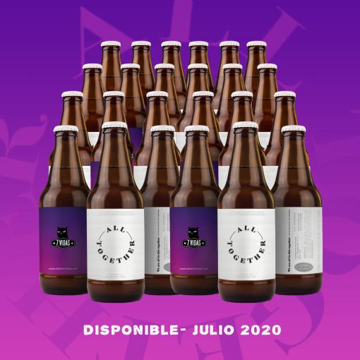 24 pack all together - cerveza 7 vidas